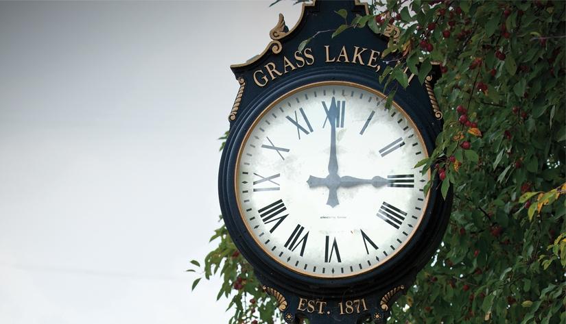 Jackson grass lake clock blogheader