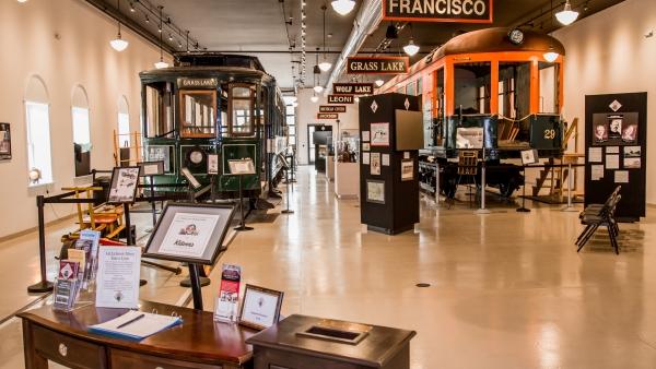 Lost railway museum interior